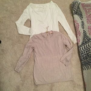 Two long sleeve tops